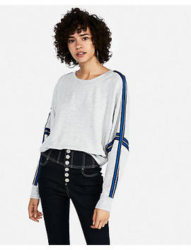 Express One Eleven Oversized Sport Stripe Tee by Express
