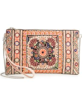 Embroidered Zip Clutch by Sole Society