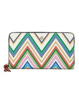 Fleming Zip Continental Wallet by Tory Burch