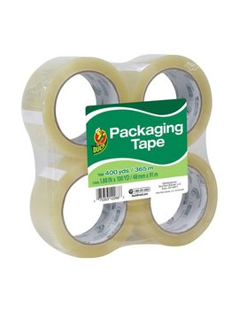 Duck Standard Packaging Tape, 1.88 In. X 100 Yd., Clear, 4 Count by Duck