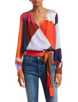 Klara Silk Wrap Blouse by Tanya Taylor