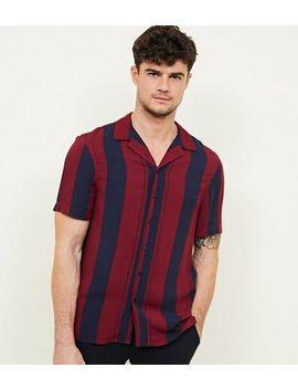 Burgundy Stripe Short Sleeve Shirt by New Look