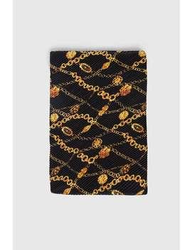 Pleated Chain Print Scarf  Chainswoman by Zara