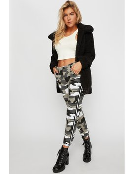 High Rise Camo Side Stripe Oversized Jogger by Urban Planet