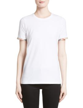Check Trim Tee by Burberry
