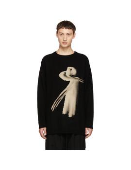 Black Women Crewneck Sweater by Yohji Yamamoto