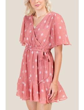 Kendra Faux Wrap Dress by Francesca's