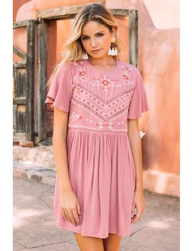 Rosie Embroidered Shift Dress by Francesca's