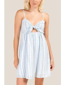 Leah Striped Tie Front Dress by Francesca's