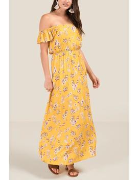 Khloe Floral Off The Shoulder Maxi Dress by Francesca's