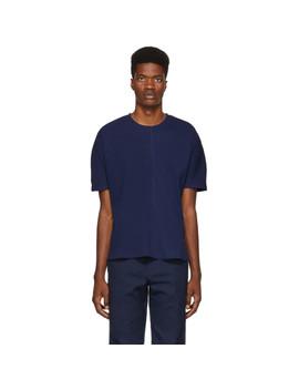 Blue B Side Dolman Rib T Shirt by Goodfight