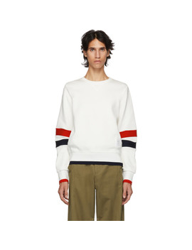 White Articulated Sweatshirt by Thom Browne