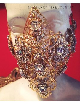 Golden Diamonique Mask Or Headband by Marianna Harutunian