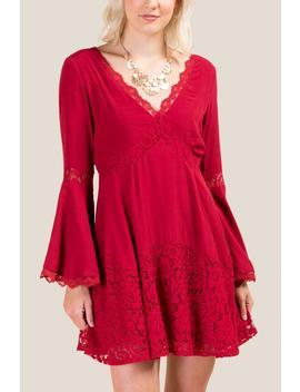 Marissa Lace Shift Dress by Francesca's