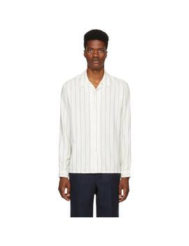 White Pinstripe Shirt by Ami Alexandre Mattiussi