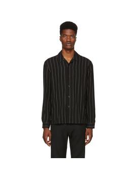 Black Pinstripe Shirt by Ami Alexandre Mattiussi