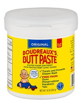 Boudreaux's Butt Paste Diaper Rash Ointment | Original | 16 Oz. Jar | Paraben & Preservative Free by Boudreaux