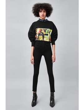 Hi  Rise Super Elastic Jeggings High Waist Rises Jeans Woman by Zara