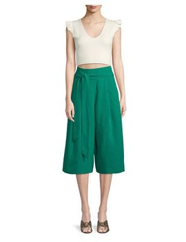 Arlyanna Belted Cropped Wide Leg Pants by Club Monaco