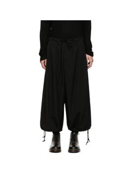 Black Basic Balloon Trousers by Yohji Yamamoto