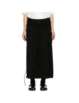 Black Leather String Skirt by Yohji Yamamoto