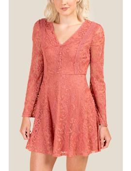 Chance Lace Shift Dress by Francesca's