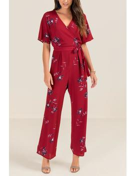 Shirley Floral Jumpsuit by Francesca's