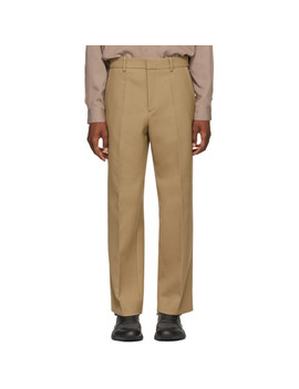 Tan Marshall Zip Trousers by Oamc