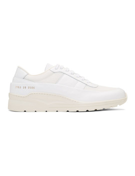 White Track Super Low Sneakers by Common Projects
