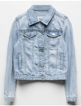 Rsq Ripped Girls Denim Jacket by Rsq