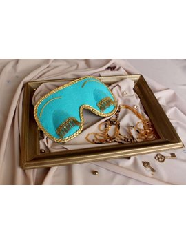 Sleep Mask In Tiffany And Co Blue Color.Gift For Women.Breakfast At Tiffany's And Audrey Hepburn In Role Of Holly Golightly Sleeping Mask by Svetlana Co