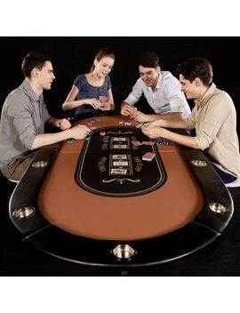 Barrington 10 Player Poker Table, No Assembly Required by Barrington