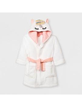 Toddler Girls' Unicorn Robe   Cat & Jack™ White by Shop All Cat & Jack™