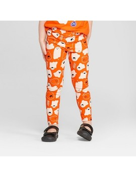 Toddler Girls' Ghosts Leggings   Cat & Jack™ Orange Flash by Shop All Cat & Jack™
