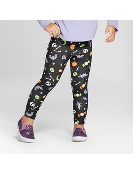 Toddler Girls' Outer Space Leggings   Cat & Jack™ Black by Shop All Cat & Jack™