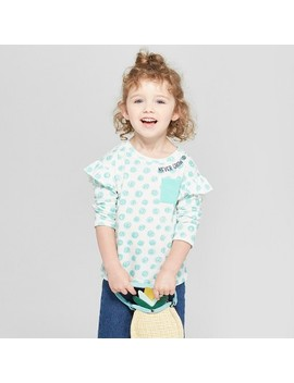 Toddler Girls' Never Grow Up Long Sleeve T Shirt   Cat & Jack™ Almond Cream by Shop All Cat & Jack™