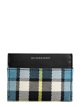 Sandon Tartan Mix Card Case by Burberry