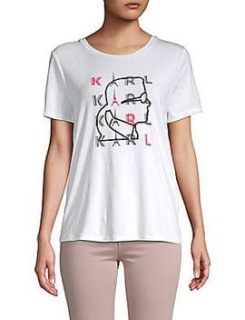 Sequined Eiffel Tower Tee by Karl Lagerfeld Paris