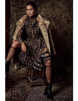 Faux Fur Collar Long Jacket by Na Kd