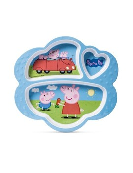 "Peppa Pig Entertainment One Melamine Kids Plate 7.5"" X 8.6"" Blue by Shop All Entertainment One Family"