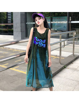 Japanese Lolita Harajuku Style Preppy Style Loose Sleeveless Dress T Shirt Tee by Unbranded