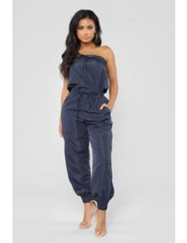 Lovin' You Tube Jumpsuit   Navy by Fashion Nova