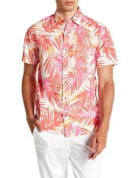 Warm Palm Print Modern Fit Shirt by Vstr