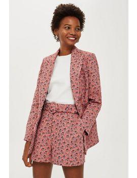 Floral Jacquard Suit by Topshop