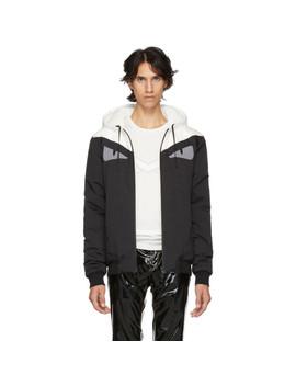 Reversible Black & White 'bag Bugs' Jacket by Fendi