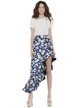 Lovetta Asymmetrical Ruffle Skirt by Alice And Olivia