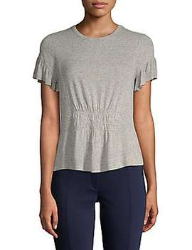 Short Sleeve Star Tie Top by Rebecca Taylor