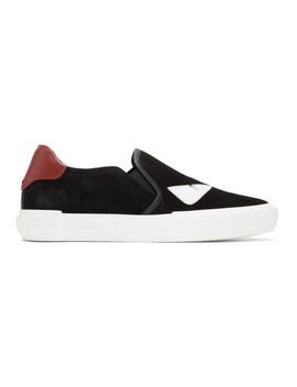 Black & White Suede 'bag Bugs' Sneakers by Fendi