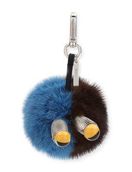Fur Spring Eyes Charm For Bag Or Briefcase by Fendi
