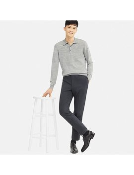 Men Ezy Ankle Length Pants (Glen Check) by Uniqlo